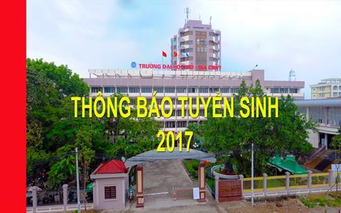 Thông báo Tuyển sinh 2017 Trường Đại học Mỏ - Địa chất